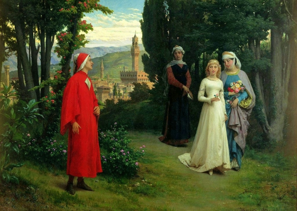 Henry Holiday - First Meeting of Dante and Beatrice 1877.jpg