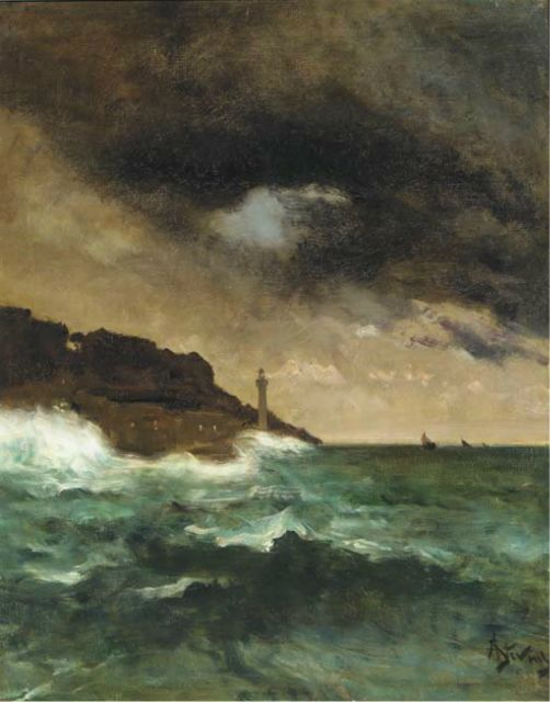 Alfred-Stevens-1823-1906---Lighthouse-at-dusk-.jpg