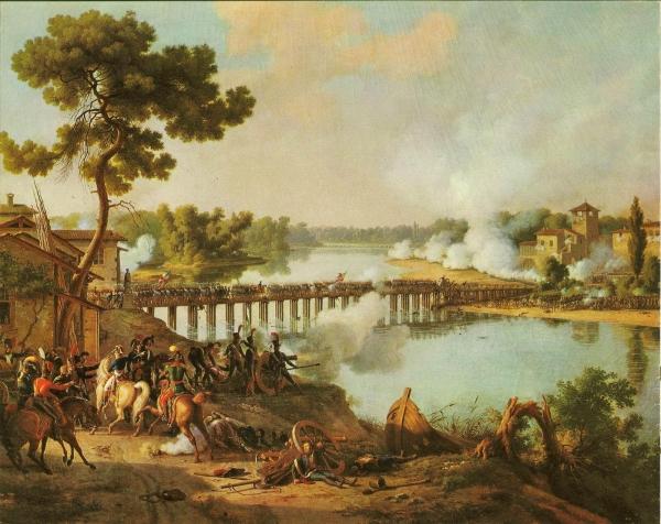 Lejeune Louis Francois Baron, Bataille du pont de Lodi (10-V-1796)(peint en 1804).jpg