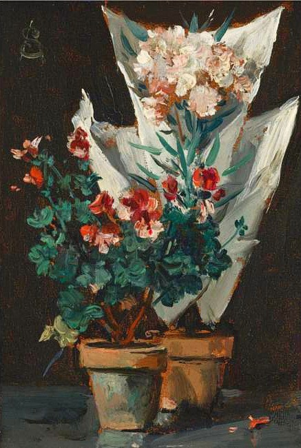 Alfred Stevens (Belgian Painter, 1823-1906) Still Life with Geraniums 1889 (2).jpg